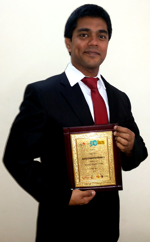Best Digital Marketing Professional in INDIA CMO Council World Marketing Congress Ananth V