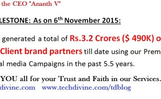 Digital agency new milestone in social media marketing Ananth V Best Digital Marketing Professional in India